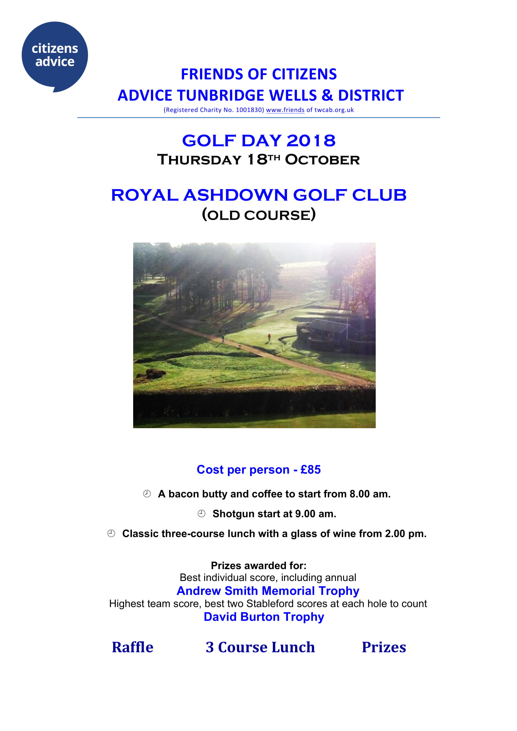 GOLF DAY 2018 – 18th October