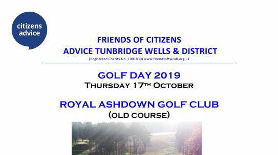 Golf day – 17th October 2019